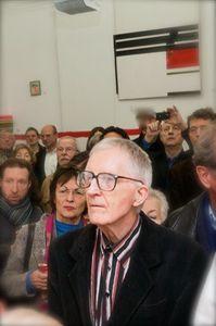 Dr. Eberhard Gäbler während der Ausstellungseröffnung 3.11.2013 in der Galerie des Kunsthauses Foto C. Reister